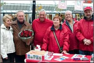 2007 - Klaas de Vries met ons campagneteam