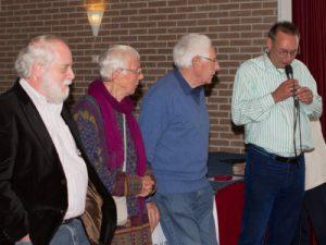 Zoals ook George en Loeki Gardien voor 65 jaar lidmaatschap en Evert Zoomer 50 jaar lid...